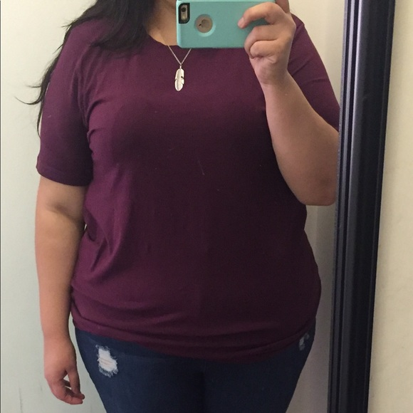 f57726915 Zenana Outfitters Tops | Plum Plus Size Cotton Scoop Neck Top 1x 2x ...